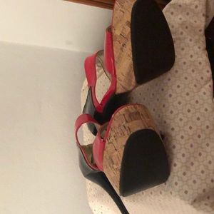 baby girl Shoes - Size 10 women's stilettos red and black heel